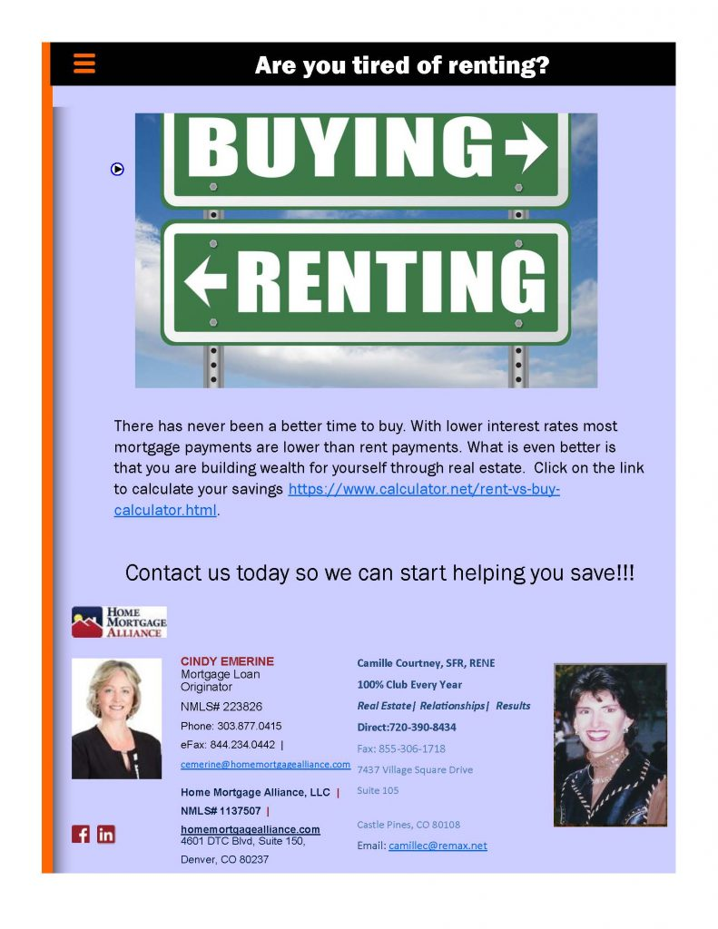 Renter?- Become an Owner