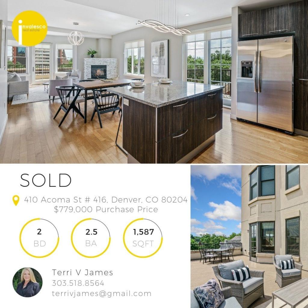 410 Acoma St #416 Sold Social Media